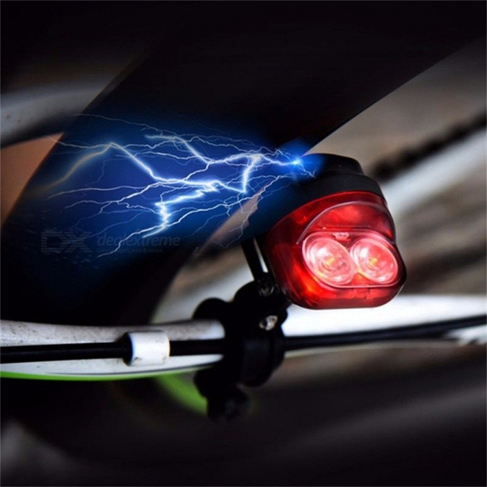 Bike Cycling Electromagnetic Induction Dynamo Red Tail Lights Set Safety Bicycle Light LED Lamp Rear Light Red