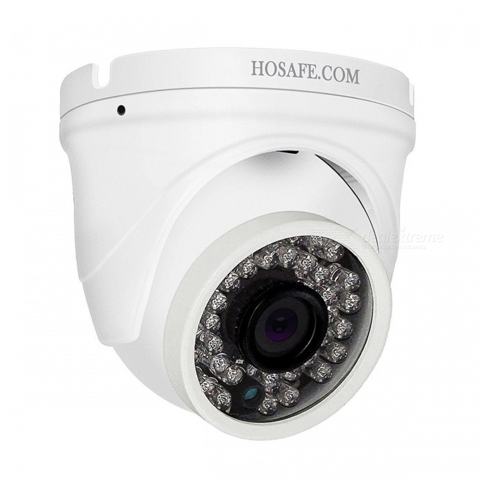 HOSAFE H2MD4A 1080P 2.0MP Outdoor Dome IP Camera with Audio, 50ft Night Vision, Motion Detection Alert