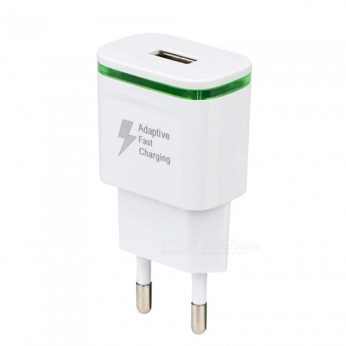 5V / 2A Quick Fast Charger, EU Plug USB Charger Power Adapter - White