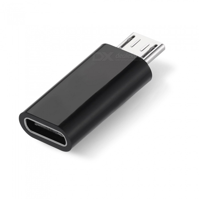 Buy Type-C to Micro USB Adapter Connector - Black with Litecoins with Free Shipping on Gipsybee.com