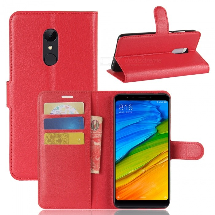Naxtop Phone Wallet Flip Leather Holder Cover Case for Xiaomi Redmi 5