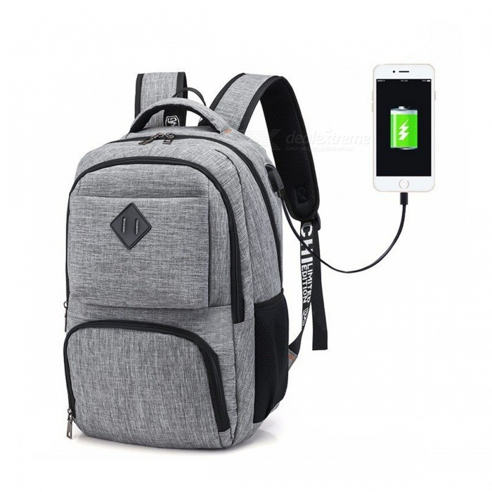 "14"" Laptop Backpack, 20L College School Student Bookbag, Casual Shoulder Daypack with USB Charging Port"