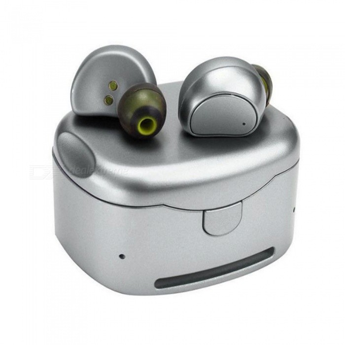 HV-316T TWS Twins True Wireless Earbuds, Mini Stereo Bluetooth Headset, Hands-free Earphone With Charging Box Dock Silver