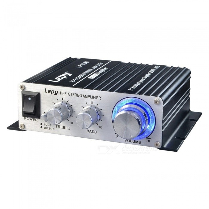 Lepy LP-V3S 12V Mini Hi-Fi Stereo Digital Power Amplifier, Car Audio Speaker W/ FM Radio, Volume Control Silver for sale in Bitcoin, Litecoin, Ethereum, Bitcoin Cash with the best price and Free Shipping on Gipsybee.com