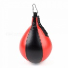 Boxing Pear Shape PU Speed Ball, Swivel Punching Exercise Speedball Speed Bag, Punch Fitness Training Ball Burgundy