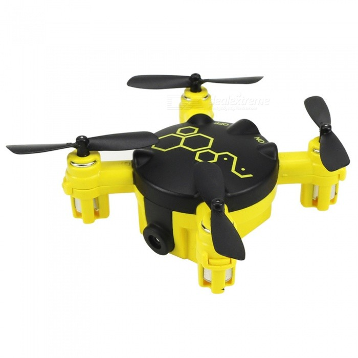 FQ04 RC Helicopter Remote Control Toy, 2.4G 4CH 6-Axis Gyro Mini Pocket RC Drone Quadcopter with 0.3MP Camera - Yellow for sale for the best price on Gipsybee.com.