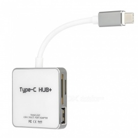 6-in-1-Multifunctional-USB-Type-C-HUB-Adapter-With-2-USB20-1USB3-0-Digital-Charging-Port-Memory-Card-TF-Card-Reader
