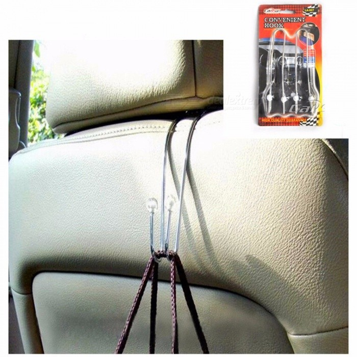 Bathroom Hardware Honest Promotion Convenient Double Vehicle Hangers Auto Car Seat Headrest Bag Hook Holder New High Resilience