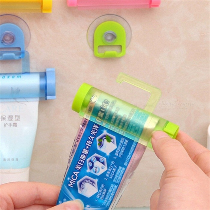 Automatic Toothpaste Dispenser Holder Paste Tube Squeezer Auto Toothpaste Rolling Squeeze Bath Room Set Accessories