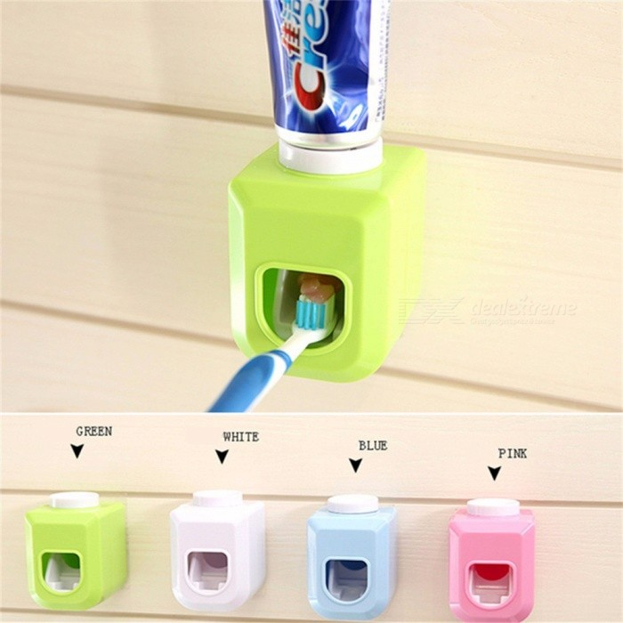 New Touch Automatic Auto Squeezer Toothpaste Dispenser Hands Free Squeeze Out Automatic Toothpaste Squeezing White
