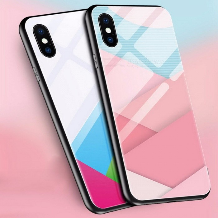 Colored Drawing Painted Ultra Thin Silicone Mobile Phone Cases For IPHONE X Abstract Plastic Protective Case White