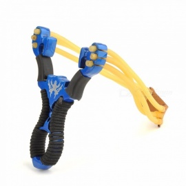 Genuine Blue Song HOT Games Outdoor Shot Powerful Slingshot Hunting Steel Catapult Sirius Slingshot-Blue Blue