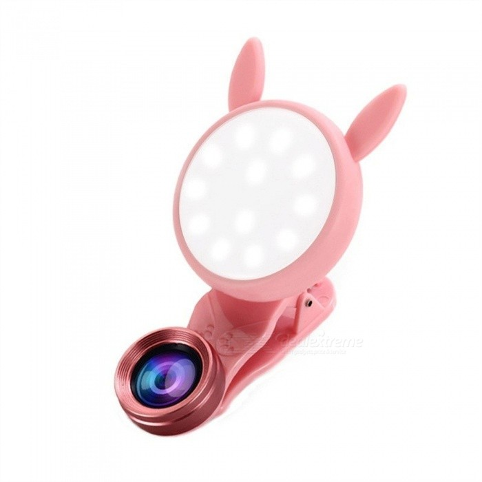 NEW Universal Mobile Phone Fill Light Lens Wide Angle Macro Clip-on Camera Lense For IPHONE  LG HTC Blackberry