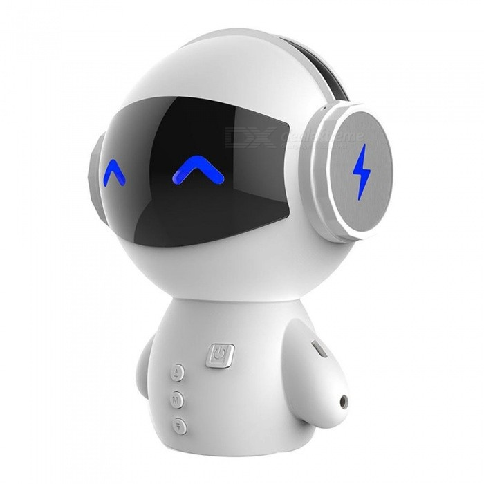 Intelligent Mini Robot Bluetooth BT Speaker, Smart-Robot Cute Portable Bass Speaker With TF / AUX, Power Bank Function Black/Speaker