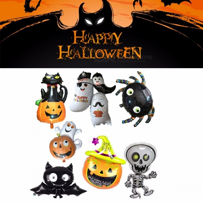 Decoration | Halloween | Birthday | Balloon | Pumpkin | Skull | Child | Party | Stick | Head | Kid