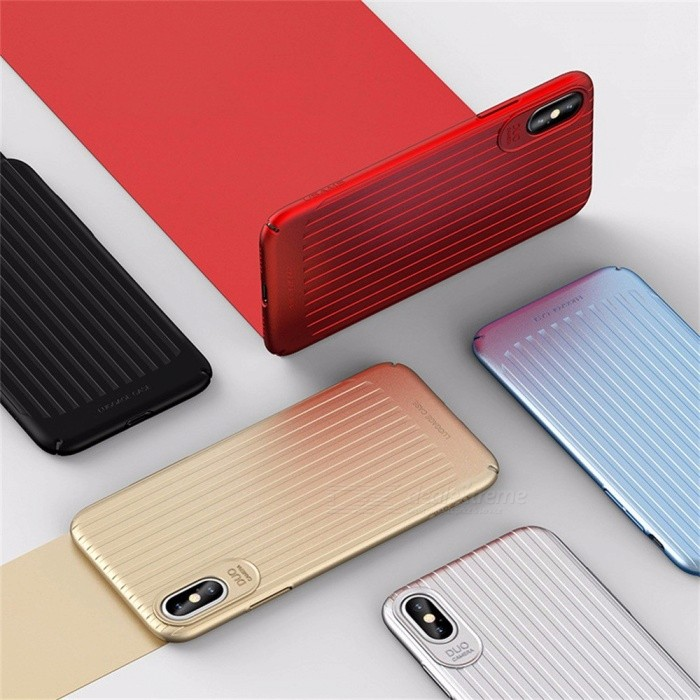 Unique Durable Wave Pattern Anti-Scratch Ultra Thin TPU + PC Phone Case / Back Cover Shell For IPHONE X