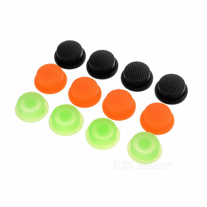 Silicone Tailcaps for Flashlights (14mm in Assorted Colors / 12-Pack)