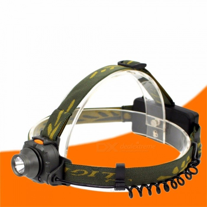 Portable Lightweight Super Bright Rechargeable Induction Headlamp, Outdoor Hunting Headlight Head Torch White/Gray