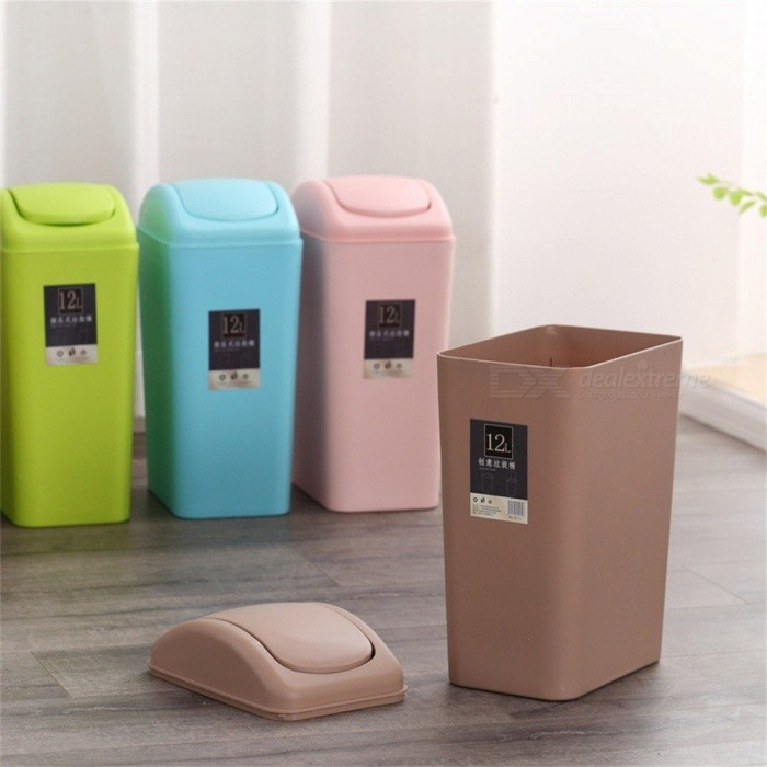 Large Portable Cute Rubbish Bin Garbage Can Office Accessories Creative Multi-functional New Trash Storage Green