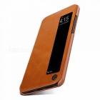 NILLKIN Qin Series Wallet Flip Cover Case For Huawei P20 Pro Flip PU Leather Window View Case Phone Cover Light Brown