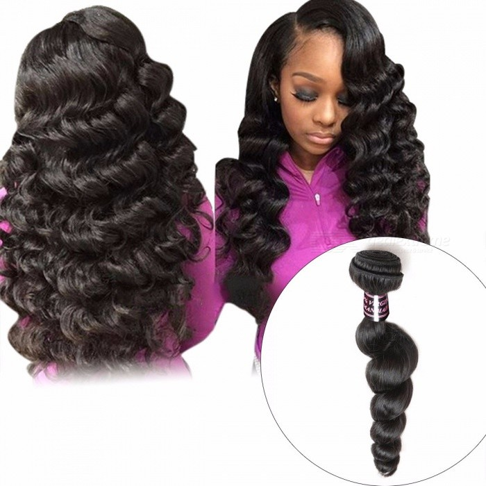Malaysian Loose Wave Hair Bundle, 1 Piece 100% Human Hair Weave, Non-Remy Hair Natural Color Can Be Dyed Hair Extension 28inches