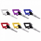 Aluminum-Front-Bumper-European-Car-Auto-Triangle-Ring-Trailer-Tow-Hook-Kit-Racing-Towing-Hook-Black