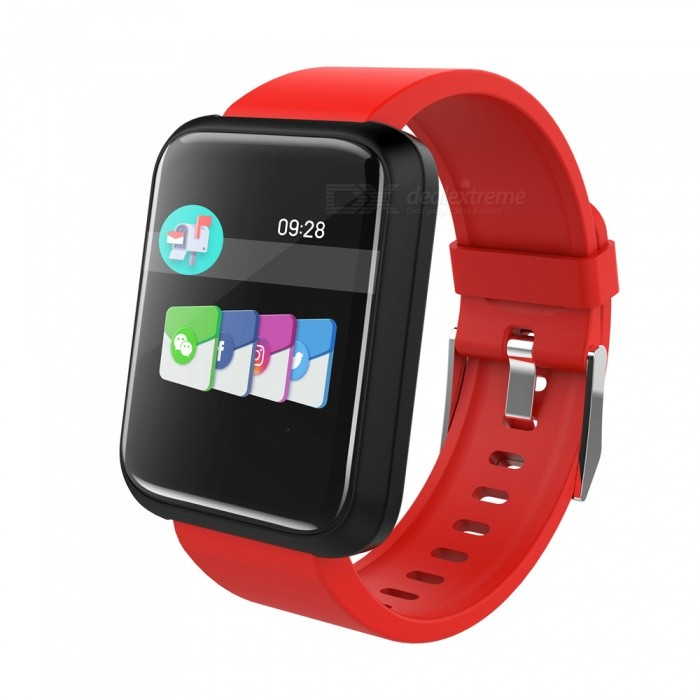 SPORT3 Smart Bracelet Touch Color Screen Sports Wrist Watch Heart Rate Blood Pressure Monitoring - Red