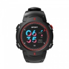 NO.1 F13 Smart Watch Real-time Heart Rate Monitor Outdoor Wristband - Red