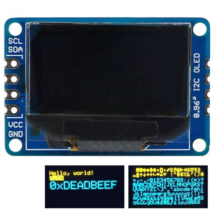 OPEN-SMART 0.96 Inch 128*64 I2C Interface OLED Display Breakout Module for Arduino
