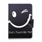 SZKINSTON-Happy-Smile-Luxury-Special-Design-Pattern-PU-Leather-Case-for-90-7e-105-Inch-Tablet-PC-Balck-2b-White