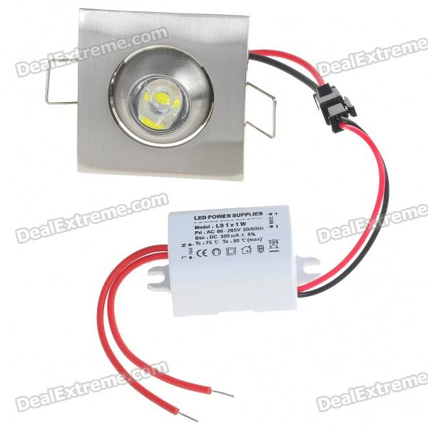 1W 100 - Lumen 6500K White LED kattovalaisin / Down Light LED Driver ( AC 85 ~ 265V )