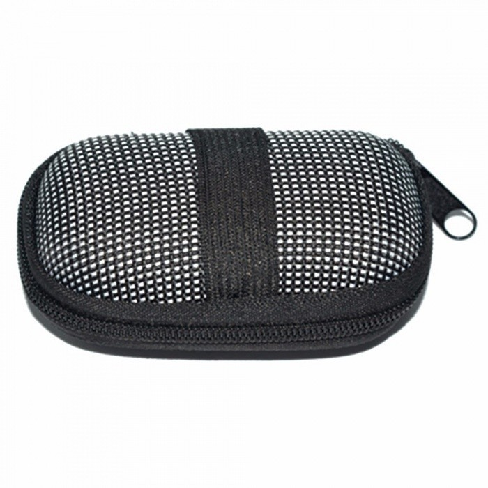 Dot-Oval-Portable-Mini-Storage-Bag-Oval-Zipper-Casual-Unisex-For-Traveling-Outdoor-Organizer-Box-Bags-Black