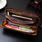 Direct-Fashion-Retro-Design-Crazy-Horse-Leather-Handmade-Men-Wallets-Large-Capacity-Wear-Long-Section-Coin-Purse-Black
