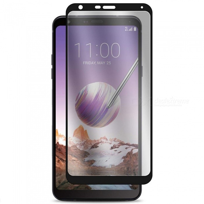 Naxtop Full Tempered Glass Screen Protector for LG Q Stylo 4 - Black