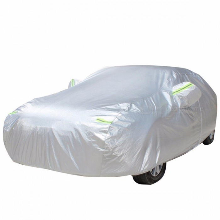 Universal UV Protection Car Cover, Oxford Cloth Outdoor Waterproof Dustproof Sun-proof Car Surface Vehicle Cover Green