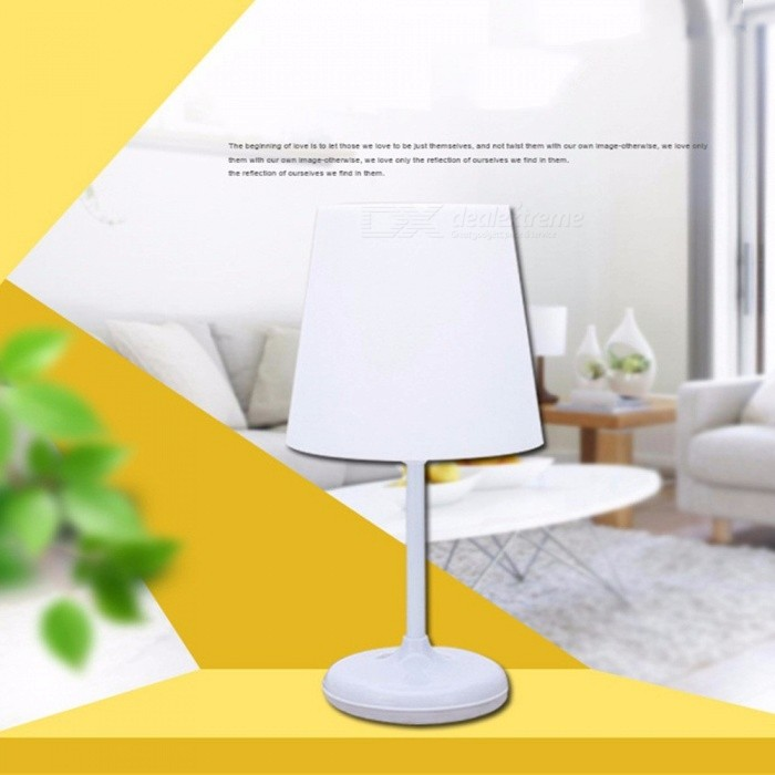 Nordic Style Bedroom Bedside Table Lamp With Linen Lampshade Smart
