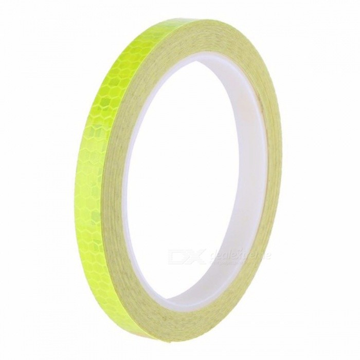 1cm X 5m Fluorescent MTB Bike Cycling Reflective Sticker Strip Decal Tape, Safety Waterproof Motorcycle Sticker Black