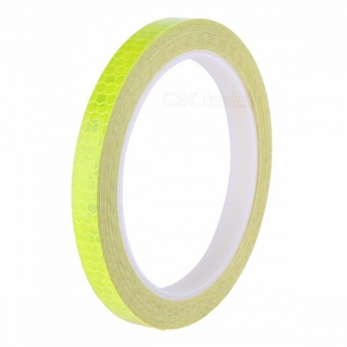 1.5cm X 5m Fluorescent MTB Bike Cycling Reflective Sticker Strip Decal Tape, Safety Waterproof Motorcycle Sticker Silver