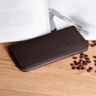 Fashion-Cross-Pattern-Mens-Long-Wallet-High-Quality-Genuine-Leather-Zipper-Wallet-Coin-Purse-With-Multi-Cards-Holder-Coffee