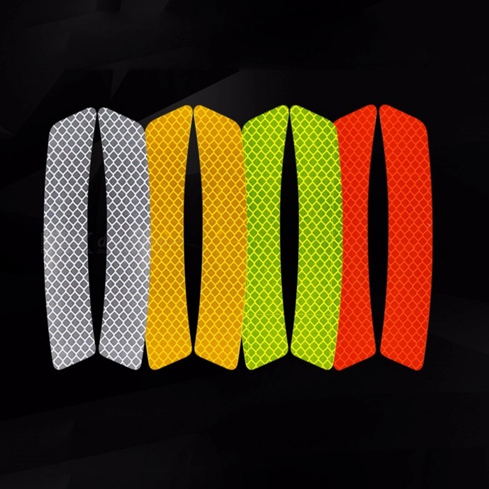 Scotchlite Diamond Grade Reflective Sticker, Safety Warning Tape Decal Strip For Car (2 PCS)