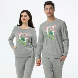 Mens-Printed-Pattern-Pajama-Set-Comfortable-Long-Sleeve-Shirt-And-Trousers-For-Autumn-Spring-GrayM