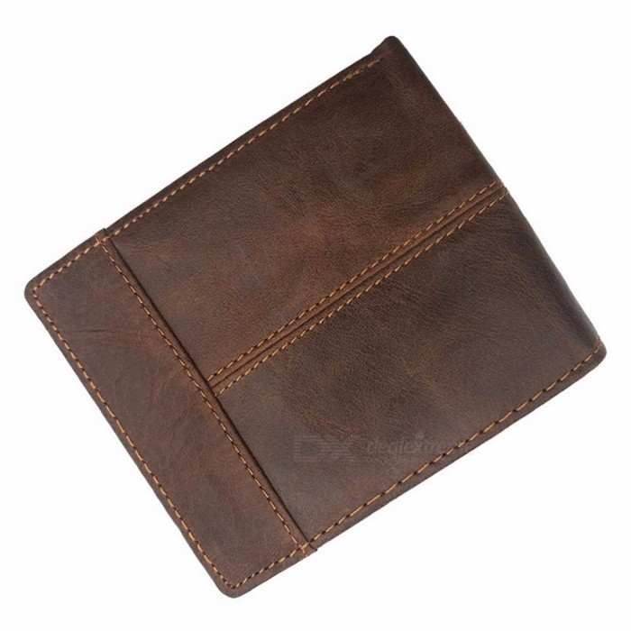 Crazy-Horse-Leather-Wallet-Top-Cow-Leather-Short-Wallet-Retro-Personality-Wallet-3-Folding-Coin-Wallet-Coffee
