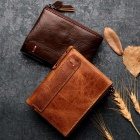 Multifunctional-Mens-Wallet-High-Quality-Genuine-Leather-Fold-Zipper-Wallet-Coin-Purse-With-Multi-Cards-Holder-Chocolate
