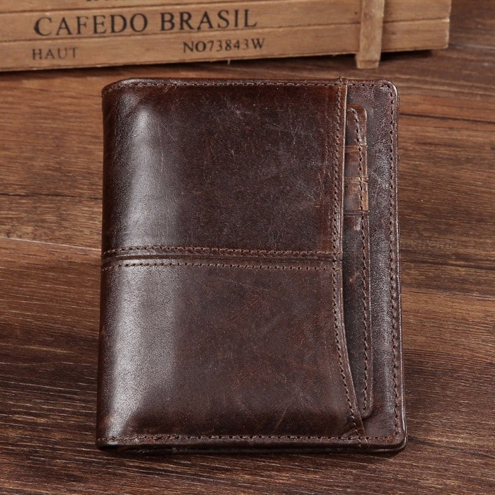 Mens-Genuine-Leather-Short-Wallet-Money-Coin-Purse-Fold-Wallet-With-Detachable-Cards-Holder-Coffee