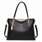 Women-New-Leather-Handbags-Leather-Shoulder-Messenger-Bag-Party-Simple-Large-Capacity-Bags-Black