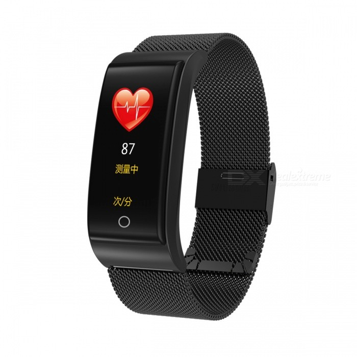 DMDG Color Screen Waterproof Smart Bracelet Fitness Tracker Heart Rate Blood Pressure Monitor Watch For IOS Android- Black