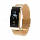 DMDG Color Screen Waterproof Smart Bracelet Fitness Tracker Heart Rate Blood Pressure Monitor Watch For IOS Android- Golden