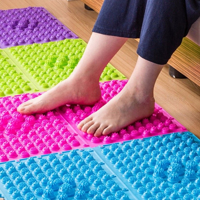 The Toe Pressure Plate Korea Foot Health Massager Cushion Super Sore Leg Massage Pad Yoga Stress Relax Red