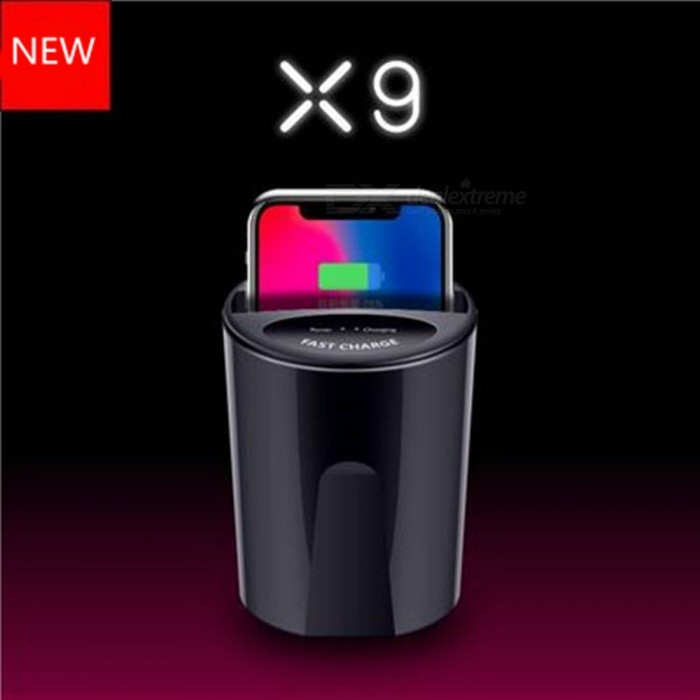 X9 Fast QI Wireless Car Cup Charger For Samsung S9/8/7/6edge iPhoneX/8/PlusNote8 USB Charging Holder