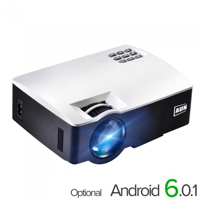 LED Projectors AKEY1/Plus For Home Theater 1800 Lumens Support Full HD Mini Projector Android Support 4K Video white